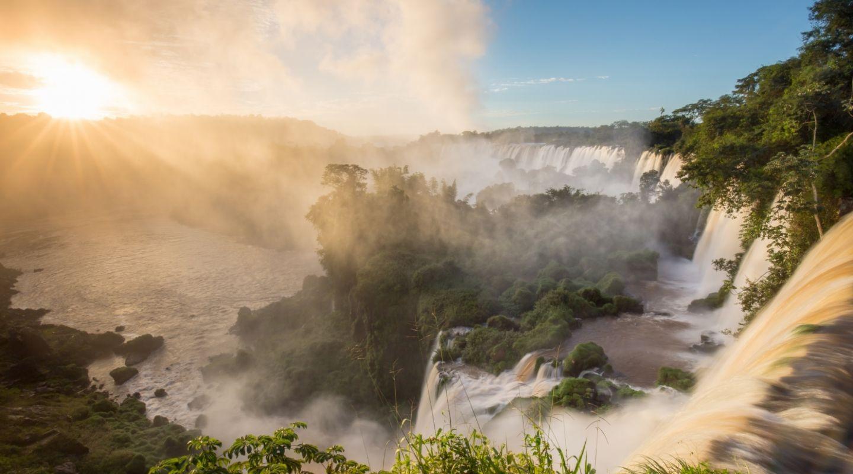 Awasi Iguazu sunrise at falls