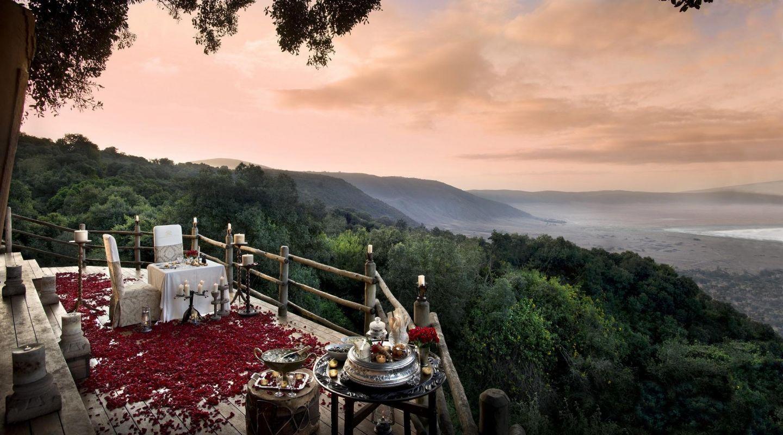 And Beyond Ngorongoro Crater Tanzania Honeymoon Dinner