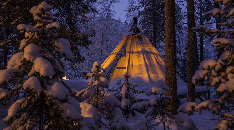 Aurora safari camp lavvu tent