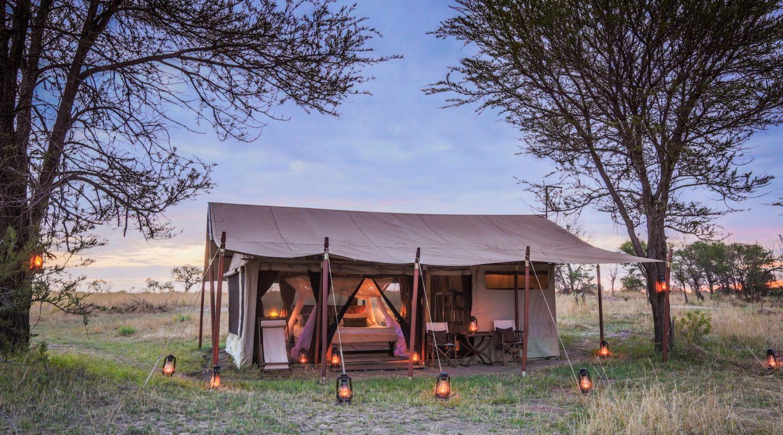 Legendary serengeti mobile camp tent exterior